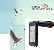12X Manual Focus Telescopic Optical Lens with Back Case for iPhone 4/4S (Assorted Color)