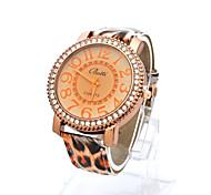 Relógio de pulso - Mulher - Quartzo - Digital - Leopardo