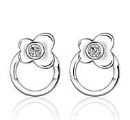 Women's S925 Silver Plated Dolphins Zircon Earrings(Color Preserving More Than A Year)