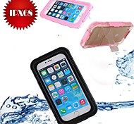 IP68 with Kickstand Waterproof  Protective Plastic and Silicone Shell Case for iPhone 6 Plus