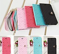 Wrist Strap Reseau PU Leather Cover with Stand for iPhone 6 Case (Assorted Color)