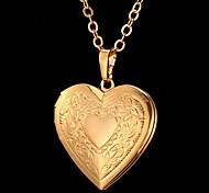 Женский Ожерелья с подвесками В форме сердца В форме цветка Любовь Мода резной бижутерия Бижутерия Назначение Особые случаи День рождения