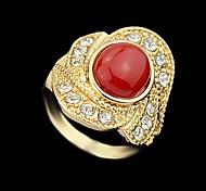 Wholesale Two Sizes Women Single Stone Ring