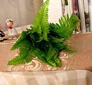 """10.2""""L Set of 1 Green 8 Limbs Persian Fern Silk Cloth Plants"""