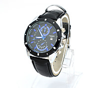 Lureme® Fashion Leisure Men's Outdoor Sports Crocodile Quartz Wrist Watch