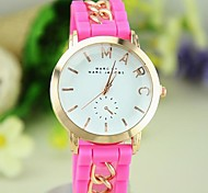 Women's Candy Color Silicone Chain Bracelet Watch