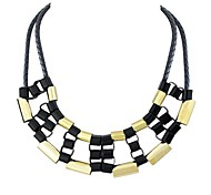 Hot Selling Pink Style Black And Gold Color Unique Trendy Necklace