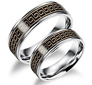 Stainless Steel Made Great Wall of China Lovers Ring the Fine Pattern