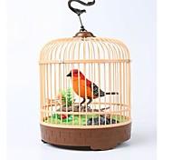 Creative Toy Simulation Voice Birdcage_ Red+Black