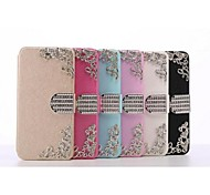 PU Leather The Silk Pattern With Drill Holster for iPhone 6