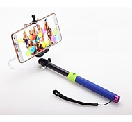 Without Bluetooth APP Remote Shutter Extendable Selfie Stick Handheld Monopod for Smart Phone(Assorted Color)