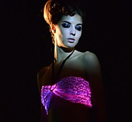 Women's Sexy Fiber Optic Remote Control Multicolors Led Party/Night Club Bra