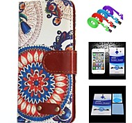 Sunflower  Pattern Full Body Case+1 HD Screen Protector+1 USB Data Transmit and Charging Cable for iPhone 6