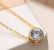 2015 Fashion All-Match Pendant Diamond Simple Accessories Female Short Necklace
