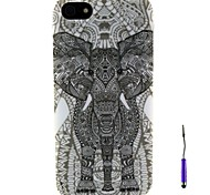 The Elephant Pattern TPU Soft Case and A Touch Pen for iPhone 5/5S