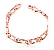 Bracelet Chaînes & Bracelets Cuivre / Plaqué Or Rose Mariage / Soirée / Quotidien Bijoux Cadeau Or Rose,1pc