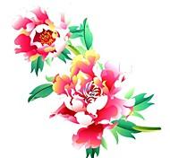 Séries Flores - Yimei - Tatuagem Adesiva - Tamanho Grande/Waterproof - para Feminino/Girl/Masculino/Adulto/Boy/Adolescente - de Papel - Vermelho -