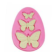3 отверстия бабочка силиконовые формы для украшения торта силиконовые формы для помадные конфеты ремесла ювелирных изделий PMC смолы глины
