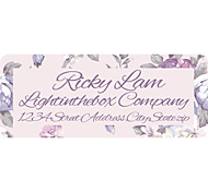 Personalized Product Labels / Address Labels Lilac Pattern of Film Paper