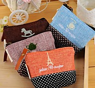 Cotton and Linen Time Change Purse(Random Color)