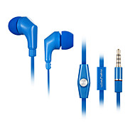 Wallytech WHF-111 Flat Cable Earphone with Remote and Microphone