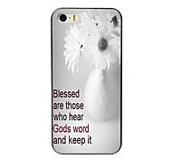 o caso do projeto da flor difícil para iPhone 4 / 4S