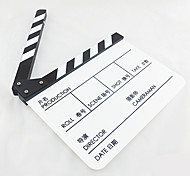 Movie / TV Film Director's Acrylic Handmade Clapperboard film slate - White + Black Chinese&English