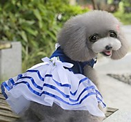 Lovable Design Navy Style Serveral Layered Princess Dress in Summer For Pets Dogs