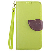 Leaves Pattern PU Leather with Card Slot for Nokia Lumia 630(Assorted color)