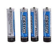 beston 4pcs 1.5v aaa zinco - batterie al carbonio manganese