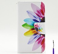 Beautiful Petals Pattern PU Leather Case Cover with A Touch Pen ,Stand and Card Holder for LG G3