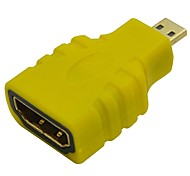HDMI Female to Micro HDMI Male Adapter-Yellow