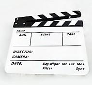 acrílico pizarra claqueta película hecha a mano / tv del director de cine - blanco + negro