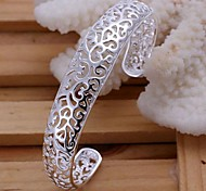 Hollowed Out Pattern  925 Silver Bangles(1PC)