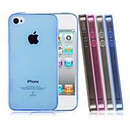 iPhone 4/4S/iPhone 4 - Cover-Rückseite - Spezielles Design ( Schwarz/Weiß/Blau/Rosa , TPU )