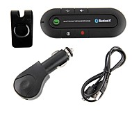 Bluetooth Handsfree Car Kit Clipped On Car Sun Visor, Bluetooth 4.0 Can Support Two Phones Simultaneously