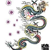 Séries Animal Tatuagem Adesiva - Estampado/Tamanho Grande/Lombar/Waterproof - para Feminino/Masculino/Adulto/Adolescente - de Papel - Multicolorido -