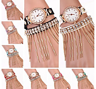Women's   Diamond Dial  Filament Diamond Leather Clasp Band Wholesale Quartz Wristwatches  (Assorted Colors)C&D175