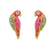 Cheap Enamel Bird Shape Stud Animal Earrings