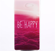 Be Happy Pattern TPU Soft Cover for Sony Xperia M2 S50h