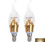 2PCS 5W 28-SMD 2835 320LM 6000K/3000K LED Light  LED Candle Bulb