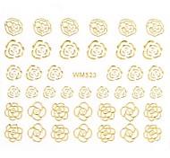 1PC 3D Nail Art Stickers Nail Wraps Nail Decals Gold Pink Rose Nail Polish Decorations