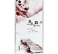 Fashion Painted Holding Hands PC Back Cover for Huawei Honor 6