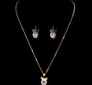 Fashion Butterfly Shape Golden Copper (Includes Necklace&Earrings) Jewelry Set(1 Set)