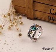 anneau eruner® hobbit aragorn vintage rétro le hobbit argent antique cristal vert pour les hommes et les femmes Vente en gros