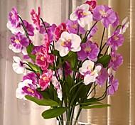 """37.8 """"l conjunto de uma alta 4 cabeças phalaenopsis seda pano flores"""