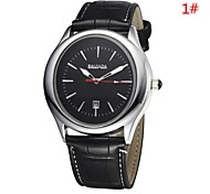 Men's Women's Unisex Dress Watch Quartz Analog Calendar/Water Resistant Round Dial Black/Brown