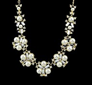 Latest Design Cheap Beautiful Women Fake Modern Pearl Necklace