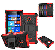 Plastic Back Cover Bumper Grid Pattern Case Cover for Microsoft Lumia 435 (Assorted Colors)