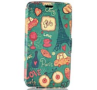 Paris Tower and Car Pattern PU Leather Full Body Protective Case with Stand for Huawei Honor3X
